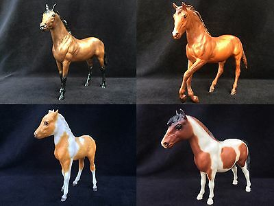 4 Breyer Horse Lot Model Plastic Horses Free Shipping Wow L@@k