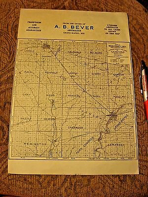 Antique Grand Rapids Wood County Wisconsin Advertising Map