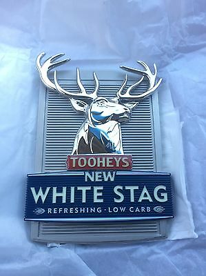Tooheys New White Stag Beer Tap Badge, Decal, Top