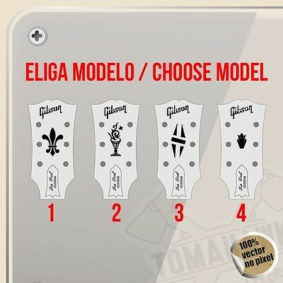 Sticker Gibson Headstock Logo Vinyl Sticker Decal Aufkleber Autocollant