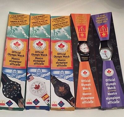 McDonald's 1996/1998 Official Olympic Watches Lot of 5