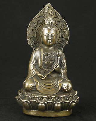 China's collection of old bronze statue of Buddha statue