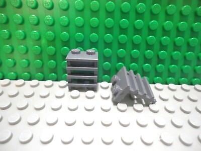 LEGO Lot of 2 Dark Gray 1x6 City Creator Train Rail End Plates