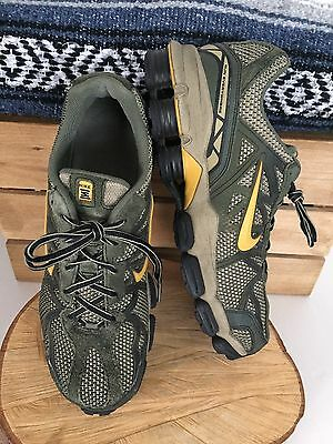 NIKE Shox Mens Vintage 2006 Leather Suede Running Shoes 313830-371 Green SZ 10.5