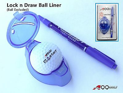 A99 Golf Lock n Draw Ball Liner Alignment Tool Blue