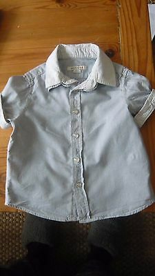 Reserved Kids Blue and White Striped Cotton Shirt 12-18 months