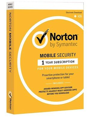 Norton Mobile Security 1 Year for Multiple Device iOS AND ANDROID