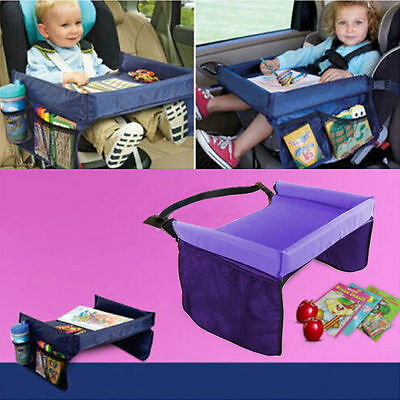 Kids Travel Play Tray Table Baby Car Seat Buggy Pushchair Snack TV Laptray Hot #