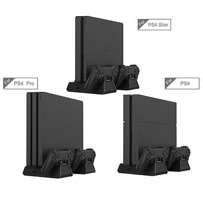 3 in 1 Support vertical Cooling Dock Station charge Dock Pour PS4, PS4 Slim Pro