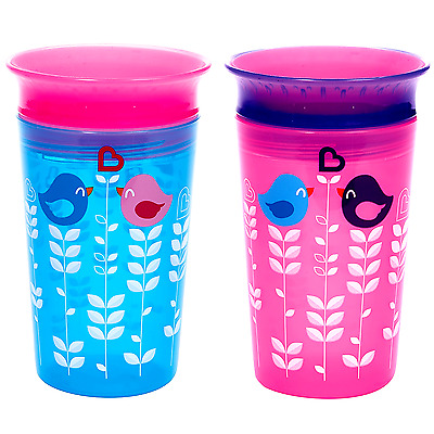 Munchkin Miracle Toddlers/Kids Sippy Cup,Leakproof Spill Proof,Spoutless,2 Count