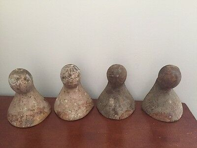 Antique Cast Iron Bathtub Feet Legs All Original Lot Of 4