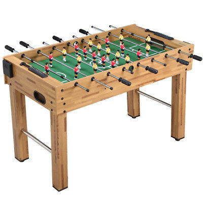 1.2M Deluxe Foosball Table Soccer Game Indoor Arcade Family Sports Natural 4FT