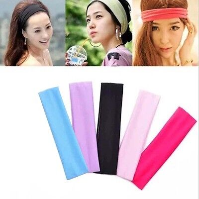 Women Yoga Headband Sports Fitness Headband Wrap Elastic Hair Band Accessories