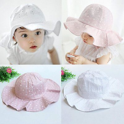 AU Toddler Girl Baby Kids Bucket Hat Summer Cap Beach Sun Outdoor Bonnet Hat