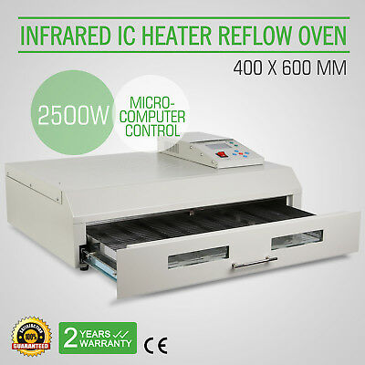 T962C Infrared Reflow Oven SMD BGA Windowed Drawer IC Heater 400x600mm 2500W