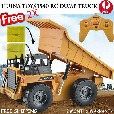 HUINA 1540 1:12 2.4G 6CH RC Charging Alloy Dump Truck Car Toy Gift + 1x Battery