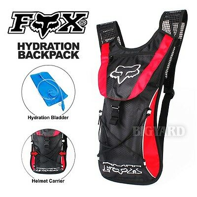 10L Red FOX Hydration Water Backpack Bag Pack Camping Cycling Hiking 2L Bladder