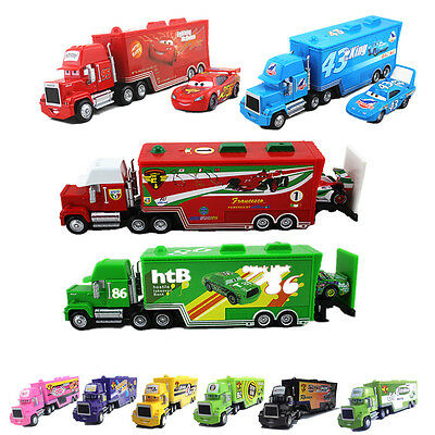 Disney Pixar Cars1 Cars2 No.95 86 51 Mack Hauler Truck&Racers Flash McQUEEN Toy