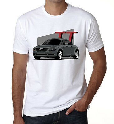 Audi TT Sports Mens T shirt AUDI inspired Lovers Fan Gift New Car White DT