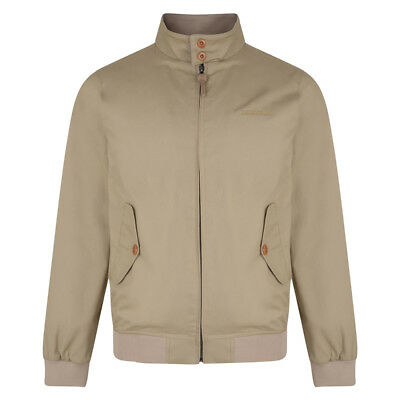 Lambretta Mens Stone/Beige Harrington Bomber MOD SKA Scooter Jacket Coat