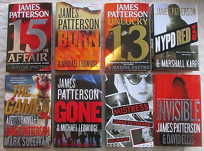 Lot 8 James Patterson Hardcover Books