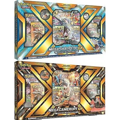 Pokemon Mega Camerupt Sharpedo Ex Box Premium Collection Trading Card Game New