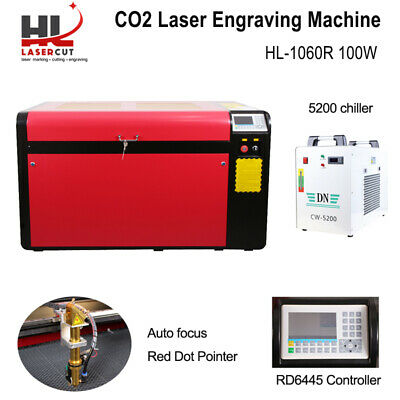 AU Ship Rec100W CO2 Laser Cutting Engraver Machine CW5000 Chiller & Exhaust Fan