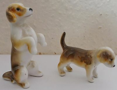 Pair Of Small Adorable  Porcelain Dogs (0/s)
