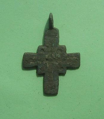 Ancient Viking Bronze Cross Pendant Kievan Rus 10-12 century