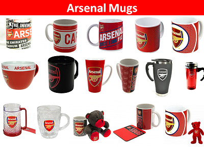 Arsenal FC Jumbo Mug Travel Mug Latte Tea Tub Cappucc Christmas Birthday Gift