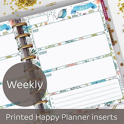 Weekly planner inserts - Week on 2 pages - Classic MAMBI Happy Planner