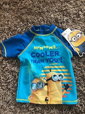 BNWT Minions Swim Sun Top 18-24 Months Summer