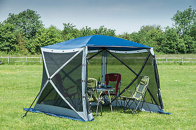 Quest Instant Spring Up Screen House 4 - Garden Camping Utility Gazebo Tent