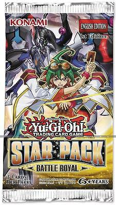 YU-GI-OH Star Pack Battle Royal Booster Packs Trading Cards New Anime 3 Cards