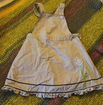 GYMBOREE GIRLS 18-24 MONTHS Summer Cotton Canvas Sleeveless Flower Dress