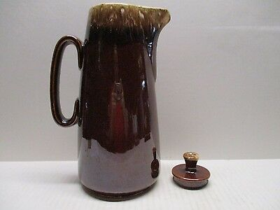 OvenProof Coffee Pot Eight Cup Country Squire With Lid Brown Drip Pre-Owned