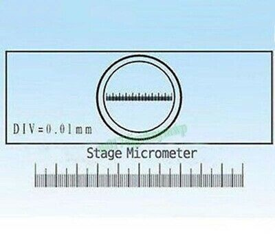 1PCS Microscope Objective Stage Micrometer Calibration Slide 1mm/100 0.01mm C1
