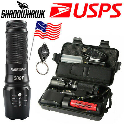 20000LM X800 Shadowhawk CREE L2 LED Tactical Military Flashlight 5000mAh Battery
