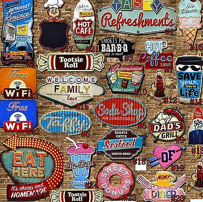 Antique Vintage Metal Tin Signs Retro Art Poster Plaque Home Pub Bar Wall Decor