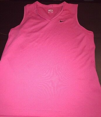 Nike Performance Women's Tank Sz M Pink Sleeveless Athletic Running Loose Fit