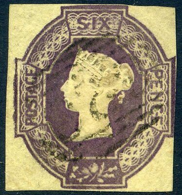 SG59 1854 6d Dull Lilac Embossed Wmk W4 Reversed c£1000.00