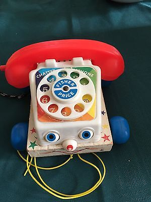 """Vintage Fisher Price """"chatter Phone"""" Pull Toy"""