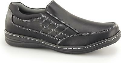 de6c8c24c7 Dr Keller BACUP Mens Slip On Casual Comfy Cushioned Wide Fit Shoes Loafers  Black
