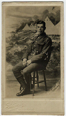 A SOLDIER OF WW1 by a GLOUCESTER PHOTOGRAPHER (x17)