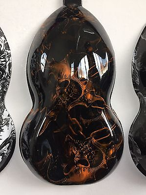 Hydrographic Film Skulls And Chains