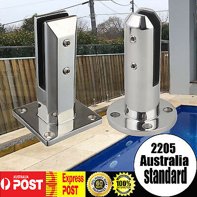 2205 Stainless Steel Spigot Frameless Glass Pool Deck Fence Square Round Spigots