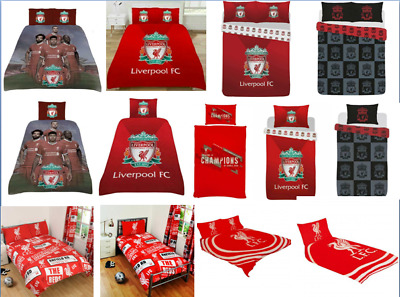 Liverpool FC Single or Double Duvet Cover Quilt Cover Bedroom Set Choose Design