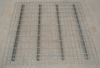 "Used 48"" x 46"" Pallet Rack Wire Decking Waterfall Style Excellent Condition"