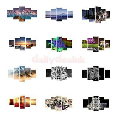 5Pcs/Set Large Print on Canvas Modern Decor Wall Painting No Framed Home PICK