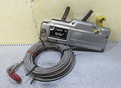 TIRFOR Winch T508D 800kg tractel puller with cable wire pulling mover winching